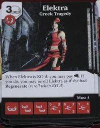 Dice Masters - Deadpool Spoiler - Elektra Greek Tragedy