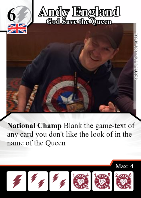 Andy England Card