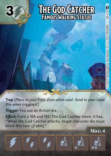 Dice Masters The God Catcher Famous Walking Statue