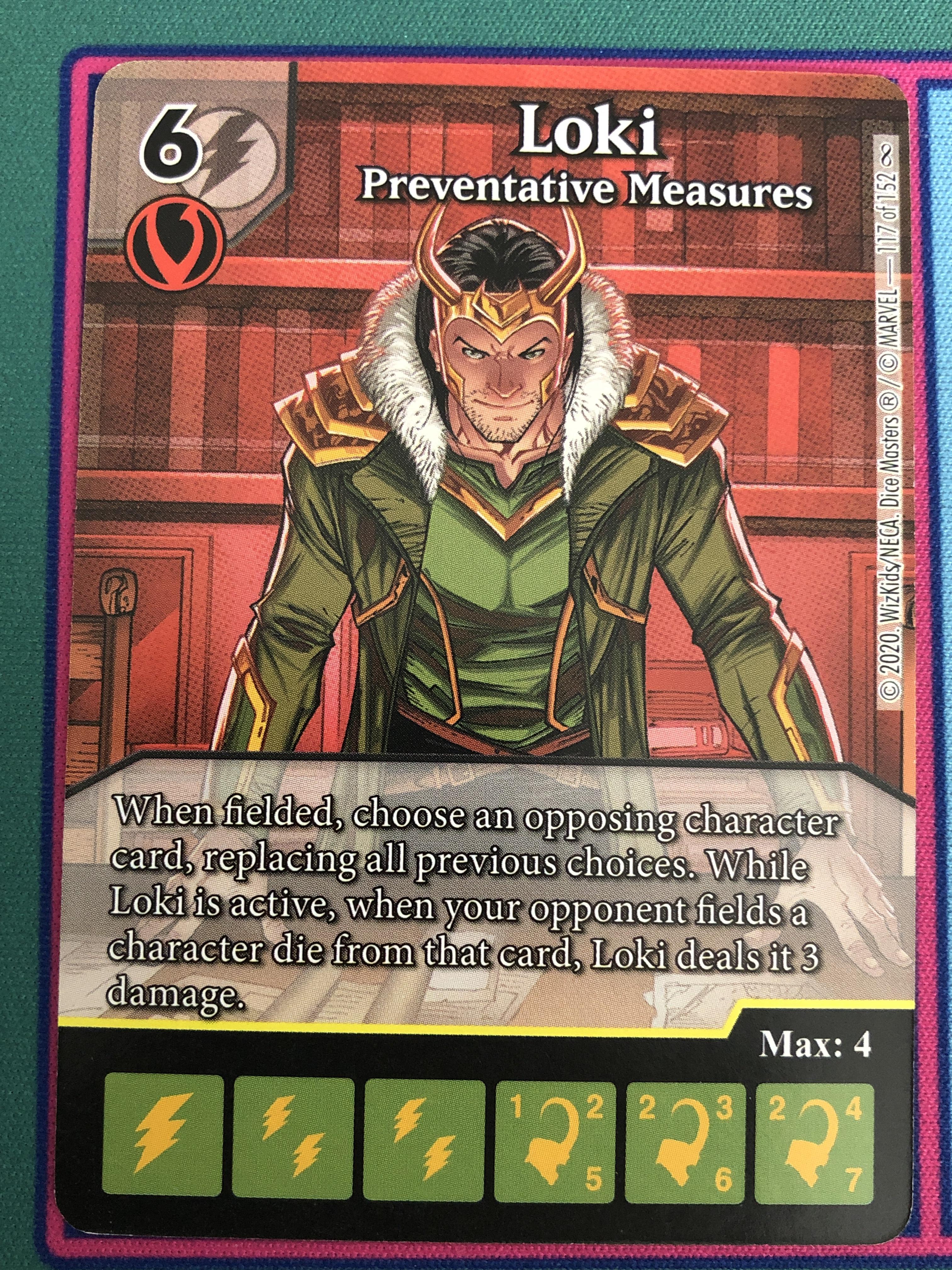 "Dice Masters Infinity Gauntlet, Loki ""Preventative Measures"""