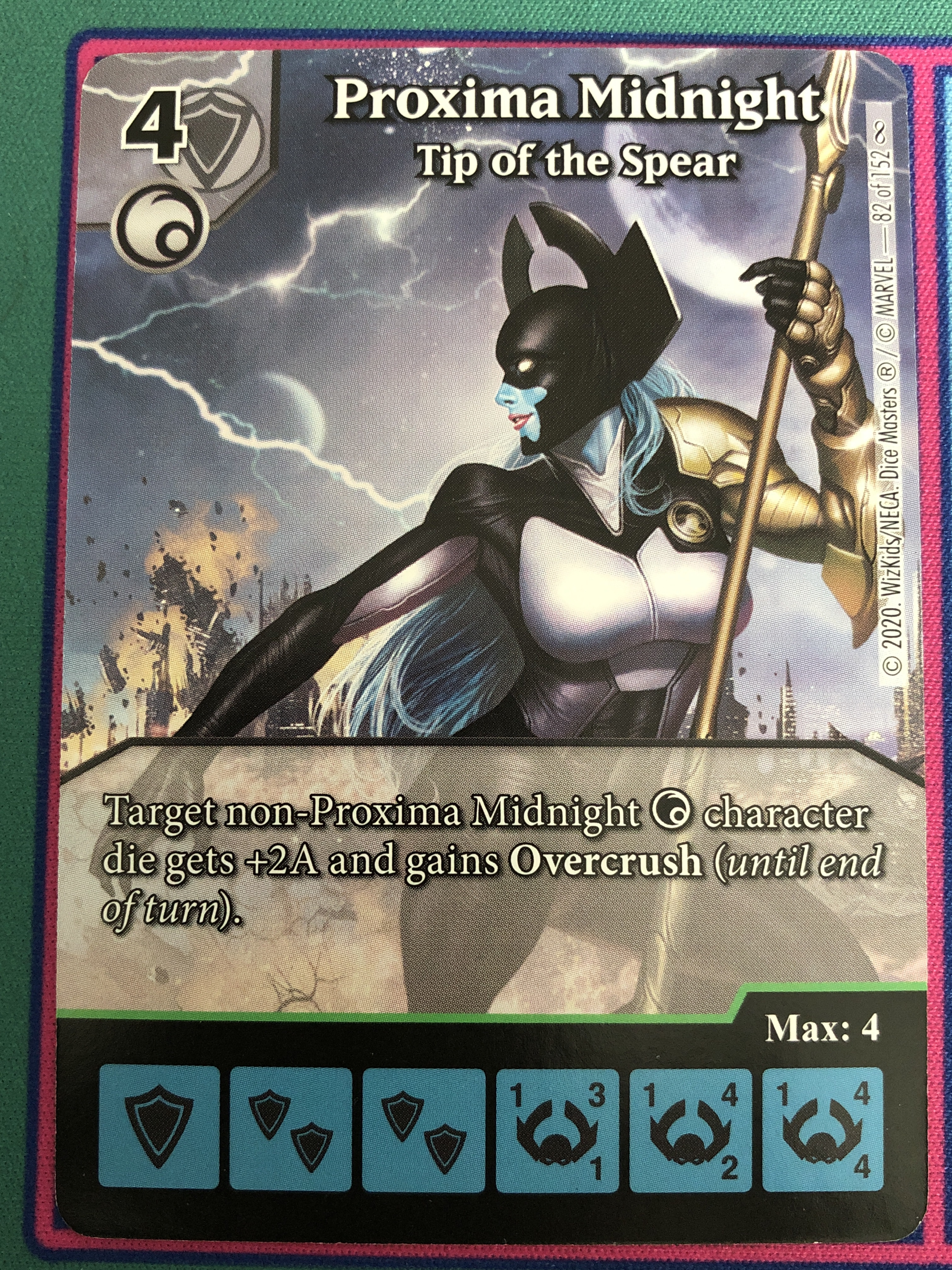 "Dice Masters Infinity Gauntlet, Proxima Midnight ""Tip of the Spear"""