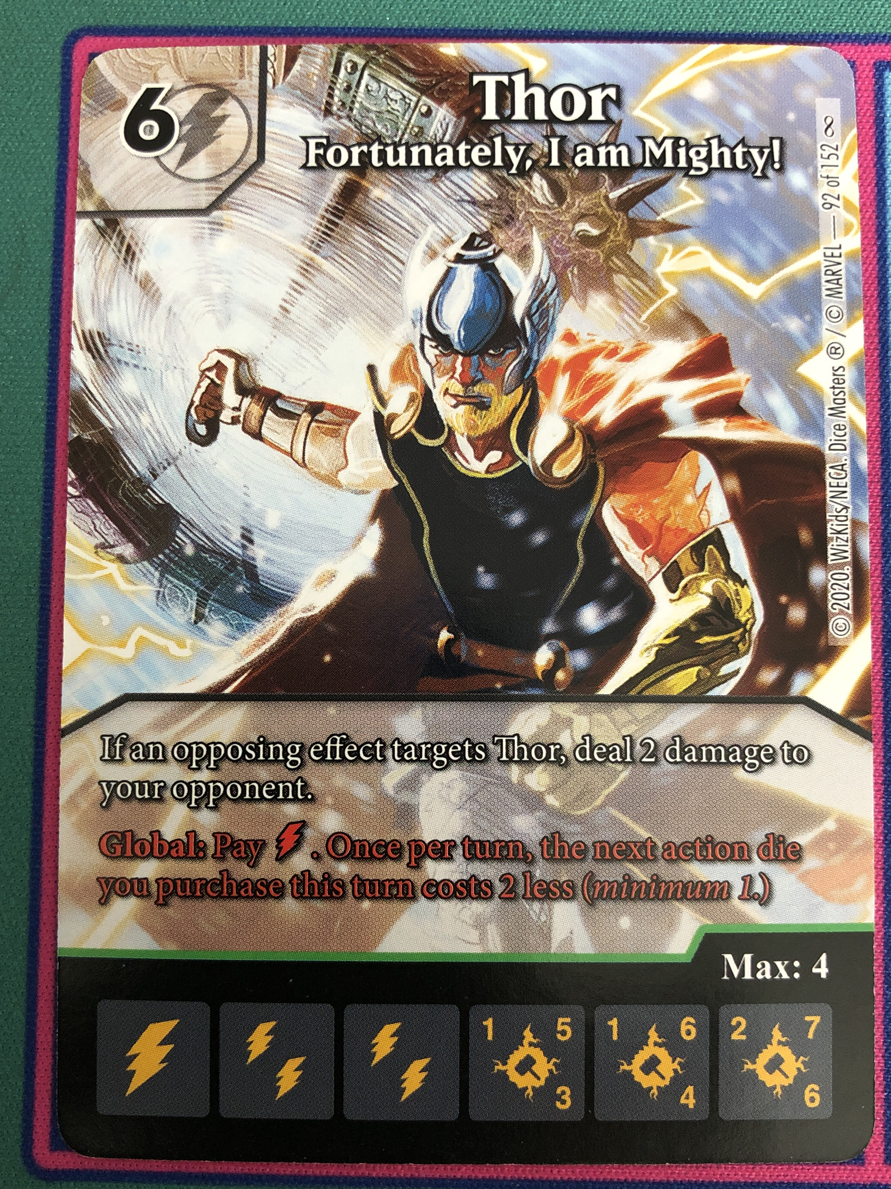 "Dice Masters Infinity Gauntlet, Thor, ""Fortunately, I am Mighty!"""