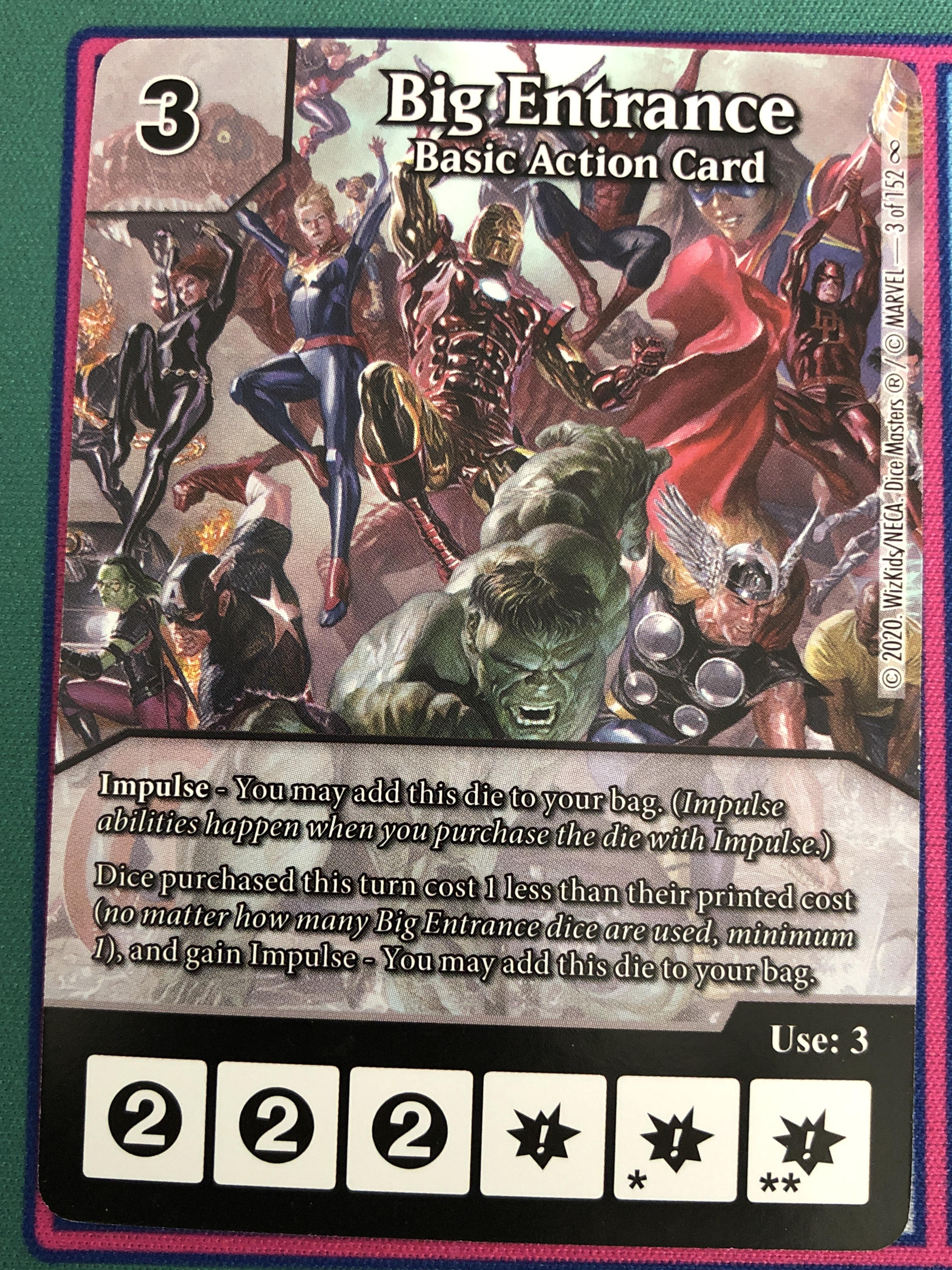 Dice Masters Infinity Gauntlet, Big Entrance