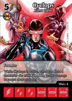 Cyclops First Class, Dice Masters Dark Phoenix Saga