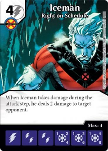 Dice Masters - X-Men Forever - Iceman Right on Schedule