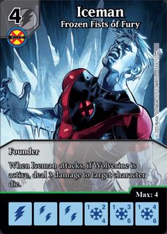 Dice Masters Dark Phoenix Saga Iceman Frozen Fists of Fury