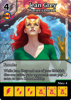 Dice Masters Dark Phoenix Saga Jean Grey Xavier's Dream