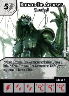 Dice Masters - Dark Phoenix Saga - Ronan the Accuser Treason!