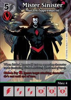 Dice Masters - Dark Phoenix Saga - Mister Sinister Mutant Supremacist