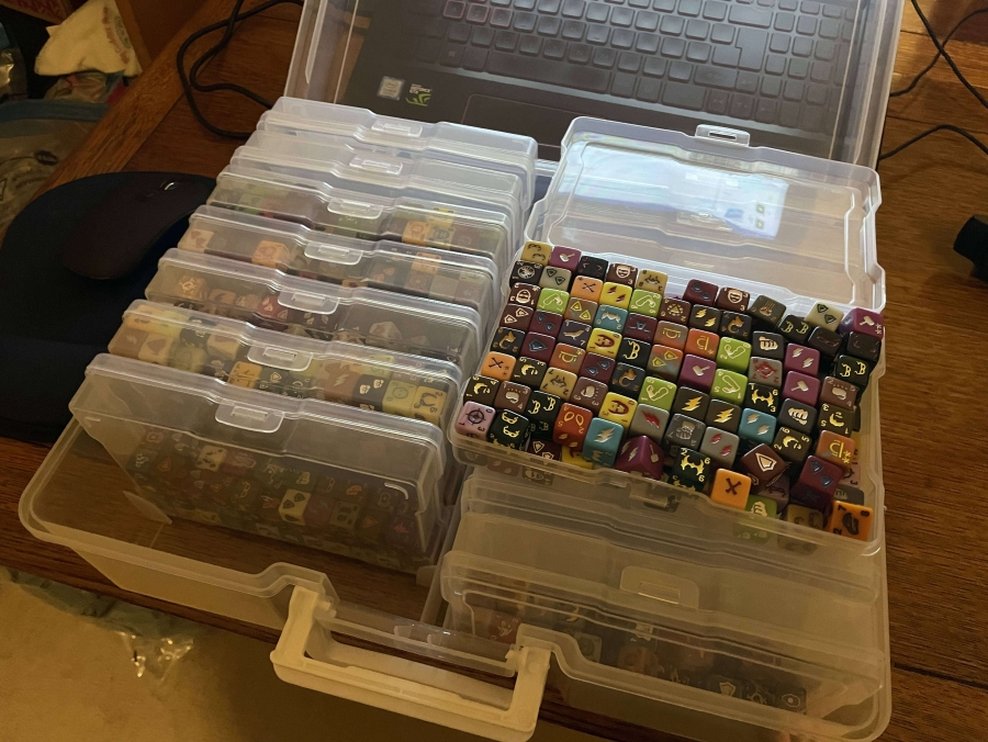 Photo Boxes with Dice Open