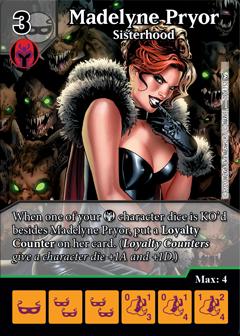 Dice Masters - Dark Phoenix Saga - Madelyn Pryor Sisterhood