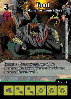 Dice Masters - Dark Phoenix Saga - Toad Looking for Comradery