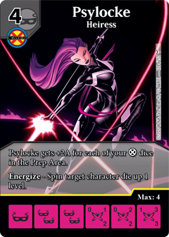 Dice Masters - Dark Phoenix Saga - Psylocke Heiress