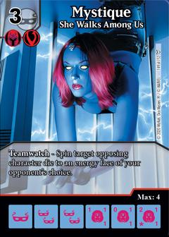 Marvel Dice Masters - Dark Phoenix Saga - Mystique She Walks Among Us