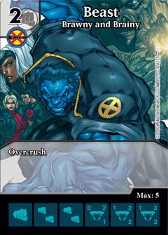 Marvel Dice Masters Dark Phoenix Saga Beast Brawny and Brainy