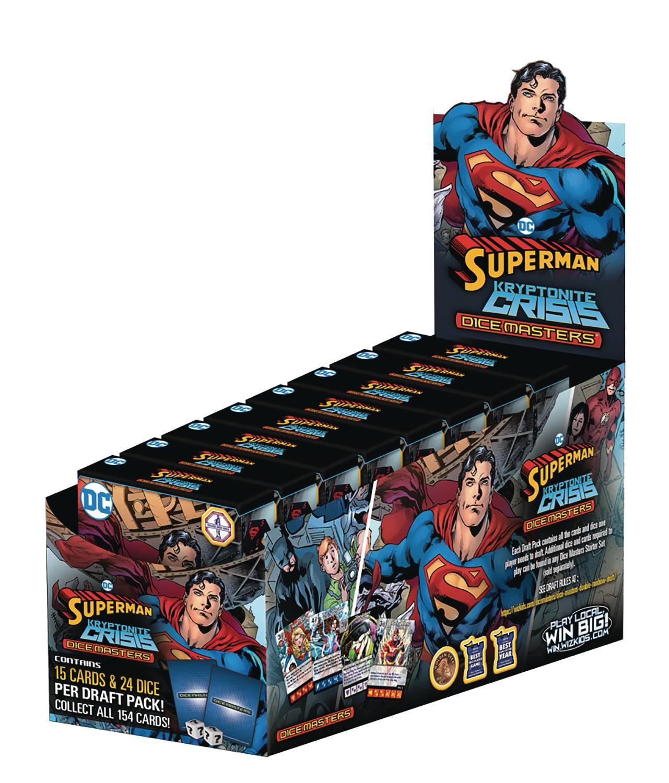 DC Dice Masters Superman Kryptonite Crisis Countertop Display Spoiler