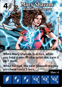 DC Dice Masters - Superman Kryptonite Crisis - Mary Shazam Wisdom of Minerva