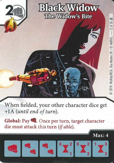 Marvel Dice Masters - Avengers Infinity - Black Widow The Widow's Bite