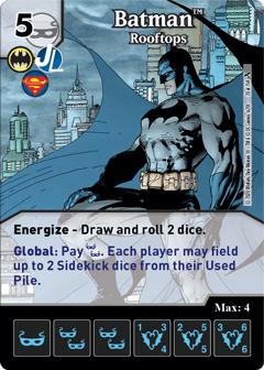 DC Dice Masters - Superman Kryptonite Crisis - Batman Rooftops