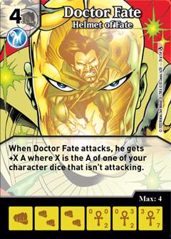 DC Dice Masters - Superman Kryptonite Crisis - Doctor Fate Helmet of Fate