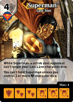 DC Dice Masters - Superman Kryptonite Crisis - Superman Last Son