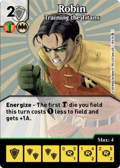 DC Dice Masters - Superman Kryptonite Crisis - Robin Training the Titans