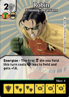 DC Dice Masters - Superman Kryptonite Crisis - Robin Training the Titans