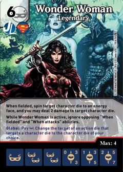 DC Dice Masters - Superman Kryptonite Crisis - Wonder Woman Legendary