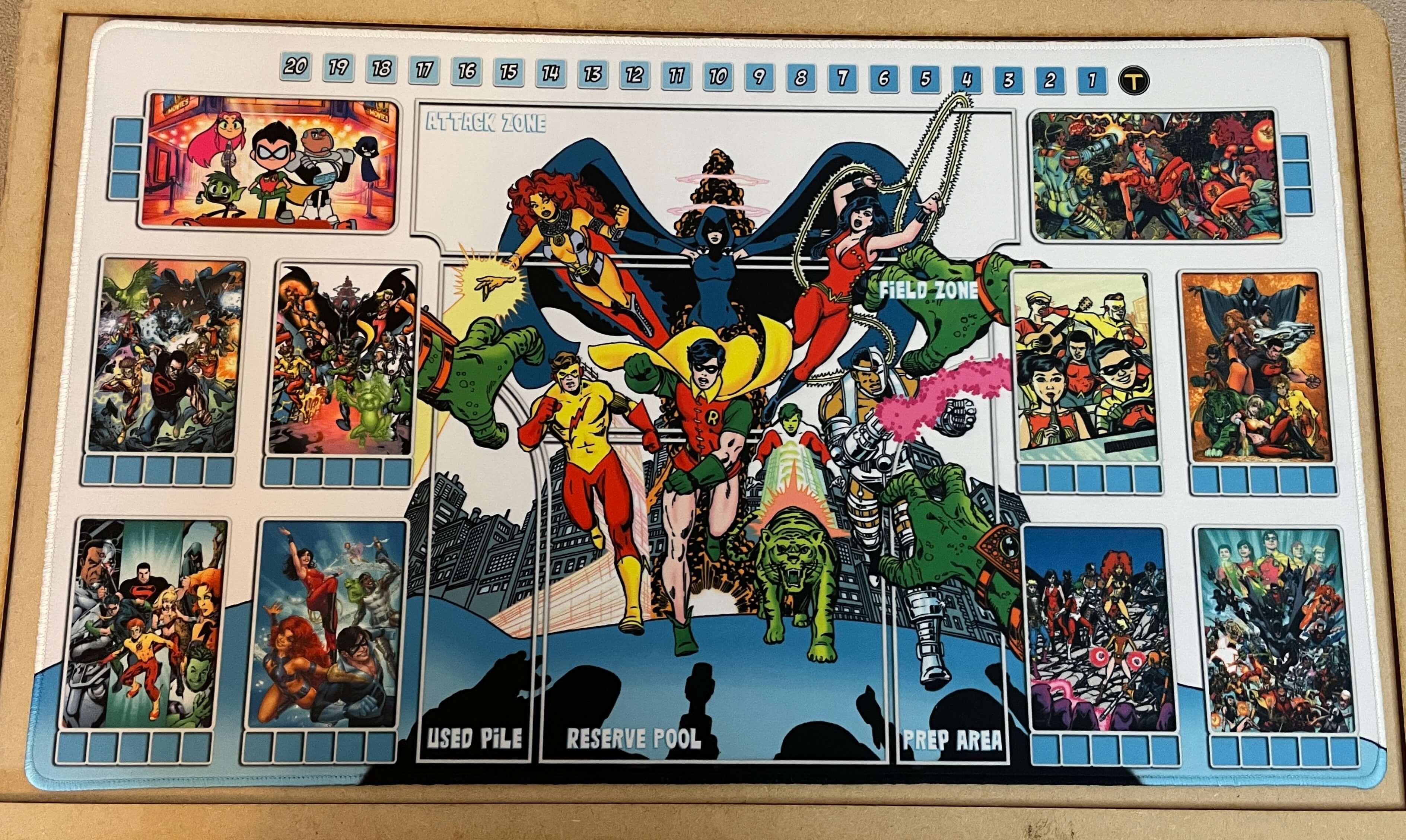 Custom Teen Titans Dice Masters Play Mat
